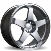 Rota GTR 17x9 5x114.3 ET25 Silver with polished lip Set of 4 Wheels