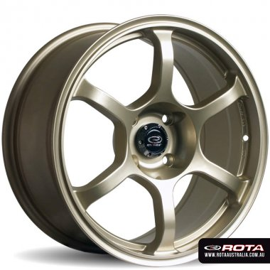 Rota BOOST 17x8 5x114.3 ET35 Gold Set of 4 Wheels