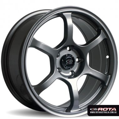 Rota BOOST 17x7.5 5x100 ET48 Steel grey Set of 4 Wheels