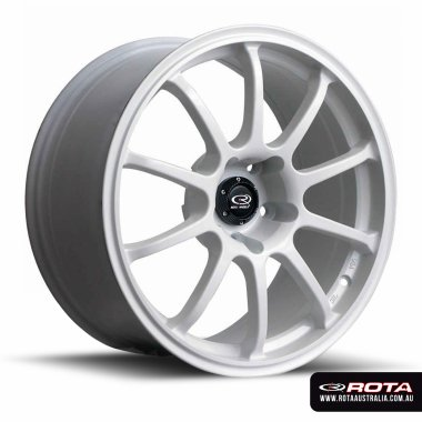 Rota FORCE 17x7.5 5x114.3 ET45 White Set of 4 Wheels