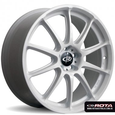 Rota GRA 18x7.5 5x100 ET48 White Set of 4 Wheels