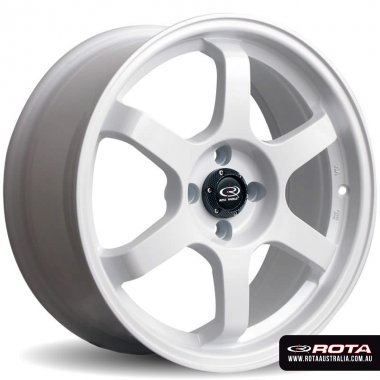 Rota GRID 17x7.5 5x114.3 ET45 White Set of 4 Wheels