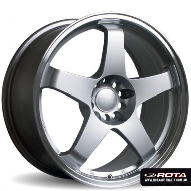 Rota GTR 18x8 5x100 ET35 Silver Set of 4 Wheels