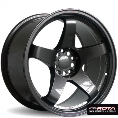 Rota GTR 17x9.5 5x114.3 ET30 Gunmetal Set of 4 Wheels