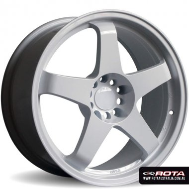 Rota GTR 18x8.5 4x114.3 ET30 White Set of 4 Wheels