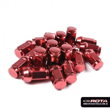 Red Steel Wheel Nuts (Set of 20)