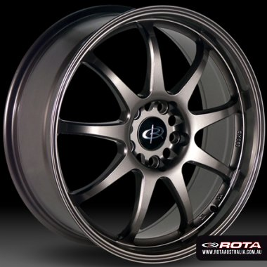Rota P1 18x7.5 5x114.3 ET45 Bronze Set of 4 Wheels
