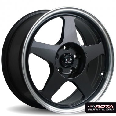 Rota SLIPSTREAM 15x6.5 4x100 ET40 Gunmetal with polished lip Set of 4 Wheels