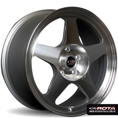 Rota SLIPSTREAM 17x7.5 5x114.3 ET45 Polished Set of 4 Wheels