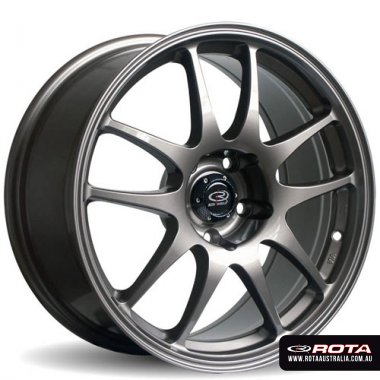 Rota TORQUE 18x9.5 5x120 ET20 Gunmetal Set of 4 Wheels