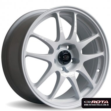 Rota TORQUE 17x7.5 5x100 ET48 White Set of 4 Wheels